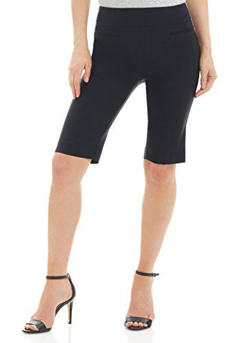 "Rekucci Women's ""Ease In To Comfort Fit"" Pull-On Modern City Shorts (14,Black)"