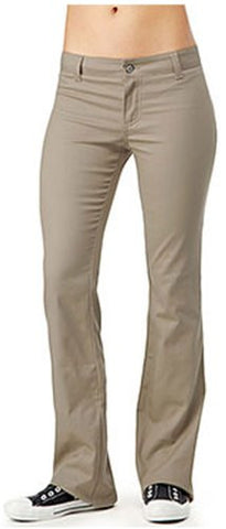 Dickies Girl Junior's Worker Bootcut Pant with 2 Back Pockets,Khaki,5