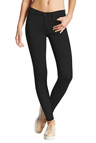 Womens Super Stretch Comfy Skinny pants P44876SK BLACK Medium