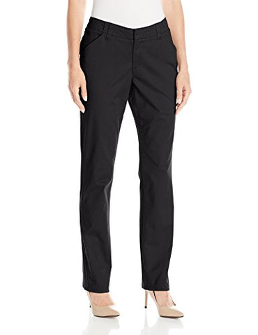 Lee Women's Midrise Fit Essential Chino Pant, Black, 16