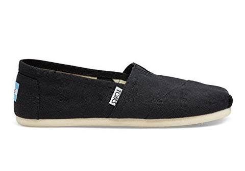 Toms Women's 001001b07-Canvas Alpargata Flat, Black, 9 M US