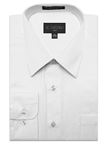 Mens Regular Fit Dress Shirt w/ Reversible Cuff 4X 20-20.5N-36/37S WHITE Shirts