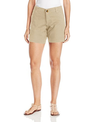 Lee Women's Midrise Fit Essential Chino Short, Bungalow, 12