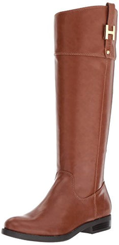 Tommy Hilfiger Women's Shyenne Equestrian Boot, Cognac, 10 Medium US