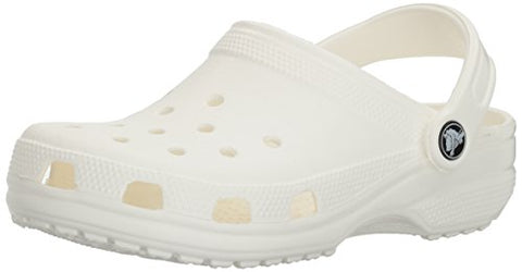 crocs Unisex Classic Clog, White, 5 US Men / 7 US Women