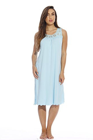 1541A-Blue-XL Just Love Nightgown / Women Sleepwear / Sleep Dress,Blue Pastel,X-Large
