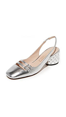 Marc Jacobs Women's Bette Sling Back Pump, Silver, 35.5 M EU (5.5 US)