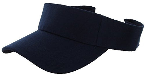 Plain Men Women Sport Sun Visor One Size Velcro Cap ( 29+ Colors) Navy,One Size