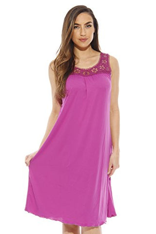1541B-Purple-M Just Love Nightgown / Women Sleepwear / Sleep Dress,Bright Purple,Medium