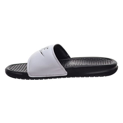 Nike Benassi JDI Mens Sandals White/Black 343880-100 (11 D(M) US)