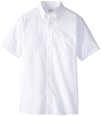 Van Heusen Men's Short Sleeve Oxford Dress Shirt, White, X-Large