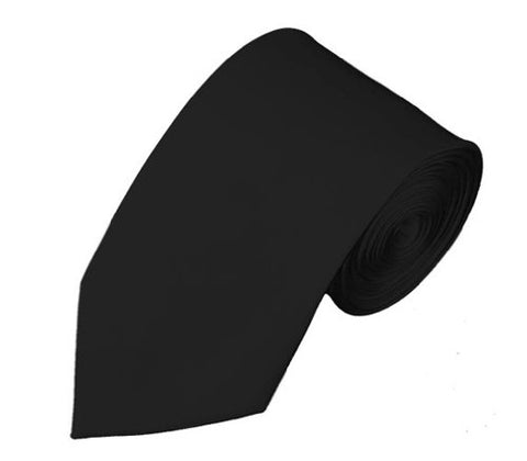 "Mens Solid Color 2.75"" Slim Tie - Black"