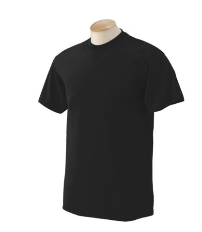 Gildan mens DryBlend 5.6 oz. 50/50 T-Shirt(G800)-BLACK-M