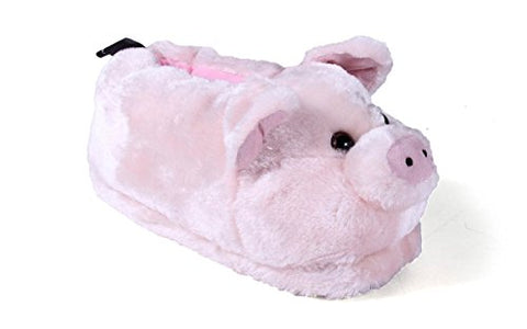 9015-3 - Pig - Large - Happy Feet Animal Slippers
