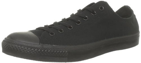 Converse Unisex Chuck Taylor All Star Low Top Black Monochrome Sneakers - 7 D(M)
