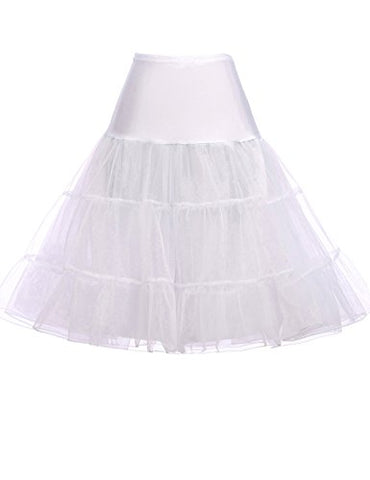 Ladies Hoopless Wedding Petticoat for Bridal Dress (3X,White)