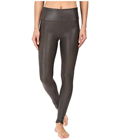 Spanx Women's Ready-to-Wow!¿ Faux Leather Leggings Gunmetal Pants
