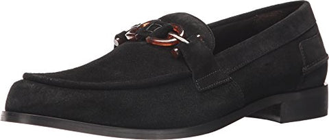 Donald J Pliner Men's Salvo Loafer, Black Calf Suede, 10.5 M US