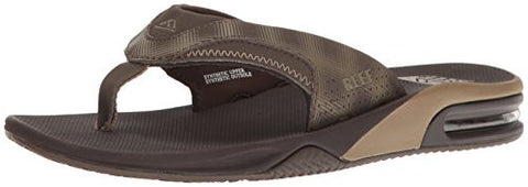 Reef Men's Fanning Prints Sandal, Brown/Brown Plaid, 11 M US