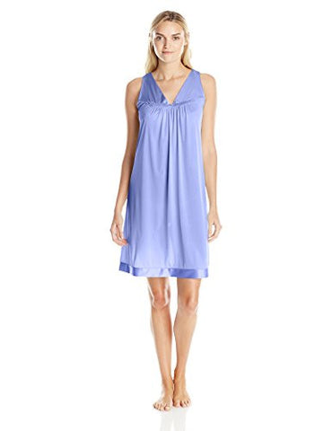 Vanity Fair Women's Coloratura Sleepwear Short Gown 30107, Victory Violet, Large