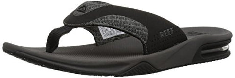 Reef Men's Fanning Mesh Flip Flop, Grey, 9 M US