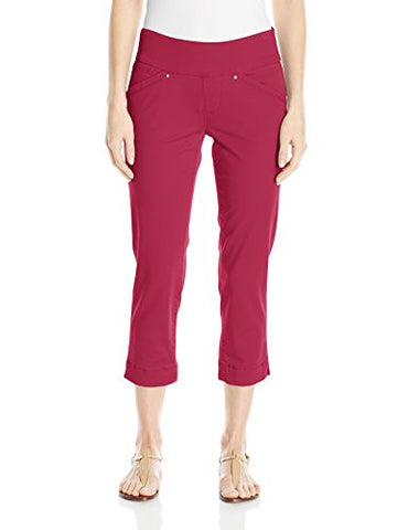 Jag Jeans Women's Marion Pull-on Crop in Bay Twill, Winter Berry, 10