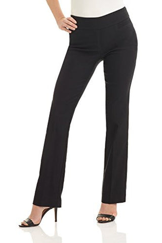 Rekucci Women's Ease In To Comfort Boot Cut Pant (8,Black)