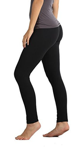 Premium Ultra Soft Leggings High Waist - Regular and Plus Size - 12 Colors (Plus (12 - 24), Black)