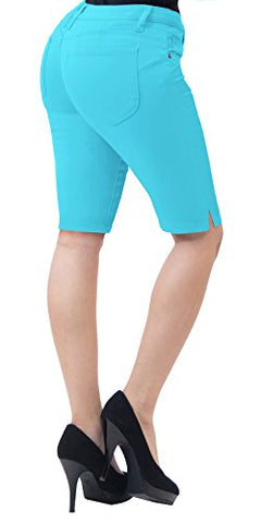 Super Comfy Stretch Bermuda Shorts B43302X AQUA 16