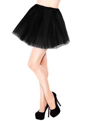 Women's 3 Layers Black Tulle Tutu Skirt