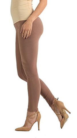 Premium Ultra Soft Leggings High Waist - Regular and Plus Size - 12 Colors by NYFC (Plus (12 - 24), Mocha)