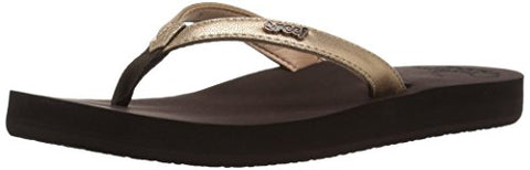Reef Women's Cushion Luna Flip Flop, Rose Gold, 8 M US