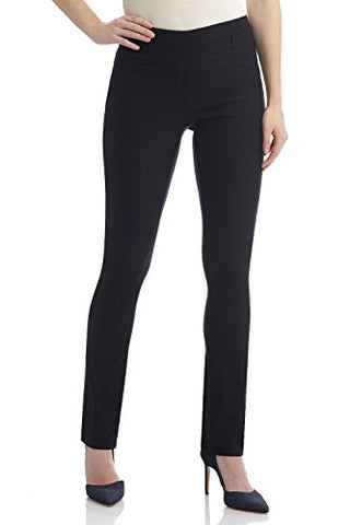 "Rekucci Women's ""Ease In To Comfort Fit"" Stretch Slim Pant (4,Black)"