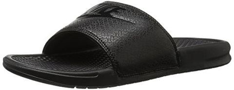 Nike Men's Benassi Just Do It Slide Sandal, Black, 10D(M) US