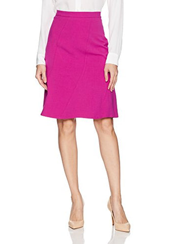 Ellen Tracy Women's Seamed Skirt, Viola, 16