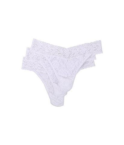 Hanky Panky Women's Signature Lace Original Rise Thongs - One Size - White , (Pack of 3)