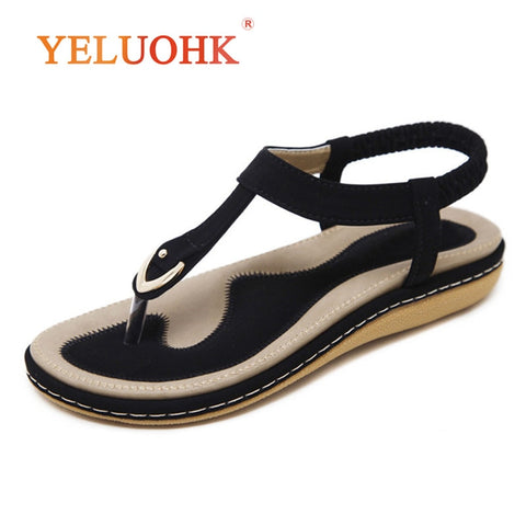 35-45 Summer Sandals Women Comfortable 2018 Summer Women Sandals Flat Big Size