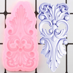 3D Craft Scroll Relief Silicone Mold Leaves Cake Border Fondant Molds Diy Cake Decorating Tools Candy Chocolate Gumpaste Moulds