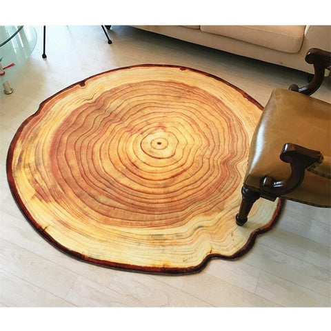 3D Growth Ring Pattern Bathroom Carpet Floor Mat Anti-Slip Bath Mats Living Room Carpets Home Decor Large Bathroom Rugs Tapetes