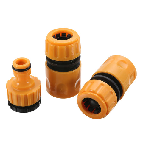 3pcs Quick Tap Water Connector Adaptor Fast Coupling Adapter Drip Tape Garden Water Hose Pipe Watering Irrigation Tools Set