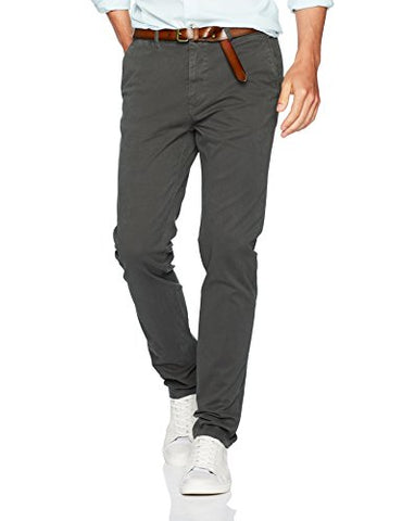 Scotch & Soda Men's Stuart-Garment Dyed Chinos, Charcoal, 34