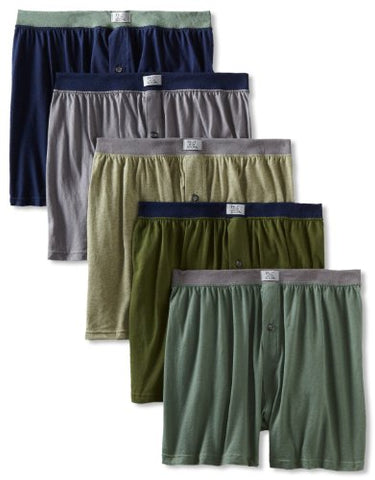 Fruit of the Loom Men's 5-Pack Soft Stretch Knit Boxer - Colors May Vary, Assorted, Large