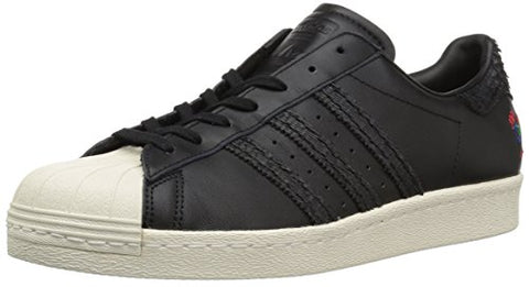 adidas Originals Men's Superstar 80s Cny, Cblack,Cblack,Cwhite, 10 Medium US