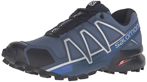 Salomon Men's Speedcross 4 Trail Runner, Slate Blue/Black/Blue Yonder, 10.5 D US