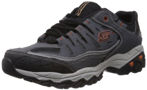 Skechers Sport Men's Afterburn Memory Foam Lace-Up Sneaker,Charcoal,13 4E US