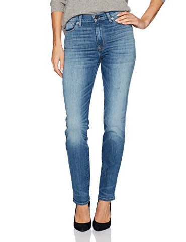 Hudson Jeans Women's Zoeey High Rise Straight 5 Pocket Jean, Can'T Stop, 24