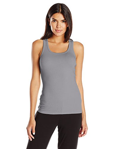 PJ Harlow Women's Charlie Tank Top, Dark Silver, Small