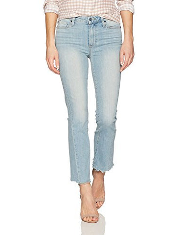 Paige Women's Colette Crop Flare W/ Twist Seam Jeans, Fina Distressed, 26