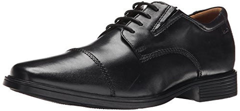 Clarks Men's Tilden Cap Oxford, Black Leather, 10.5 M US