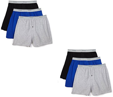 Fruit of the Loom Men's 5-Pack Soft Stretch Knit Boxer - Colors May Vary (Large, Assorted Color)